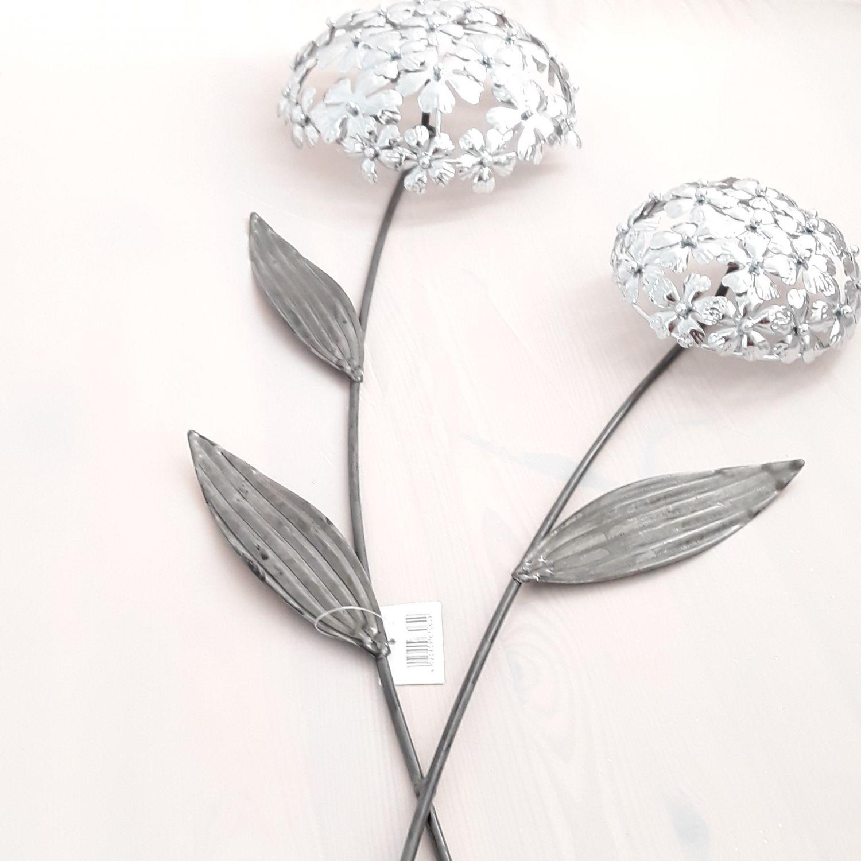 formano wandschmuck bl tenzweig blume allium kunsthandwerk silber wanddeko ebay. Black Bedroom Furniture Sets. Home Design Ideas