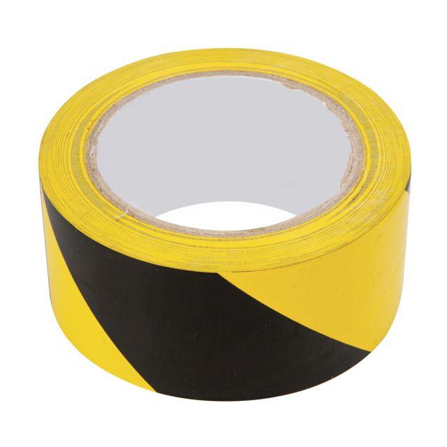 absperr warn klebeband 50 mm x 33 m gelb schwarz absperrband signalband ebay. Black Bedroom Furniture Sets. Home Design Ideas