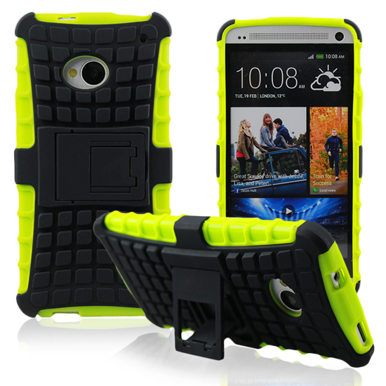 htc one m7 lte 801n hybrid hard case neon outdoor cover. Black Bedroom Furniture Sets. Home Design Ideas