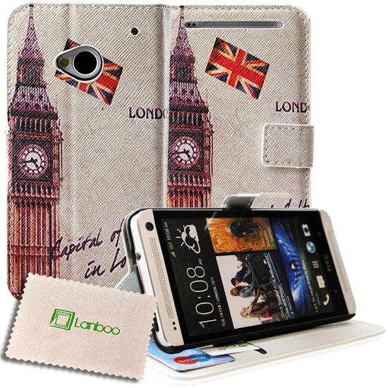 HTC One M7 801n MOTIV Denim Tasche Schutzhülle Wallet Book Etui Buch Case Hülle