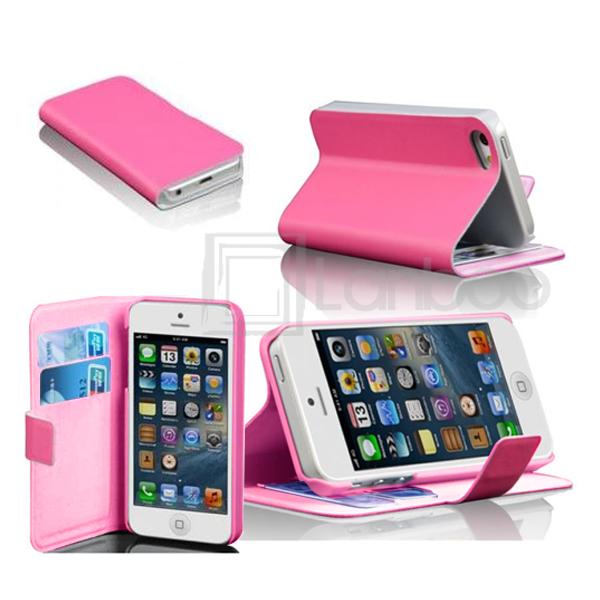 iphone 5 handy tasche handytasche flip cover brieftasche etui huelle. Black Bedroom Furniture Sets. Home Design Ideas