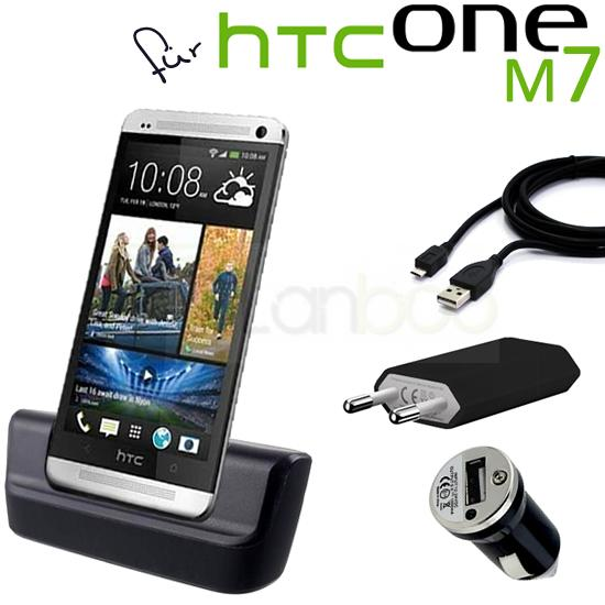 4in1 f r htc one 801n m7 dockingstation micro usb. Black Bedroom Furniture Sets. Home Design Ideas