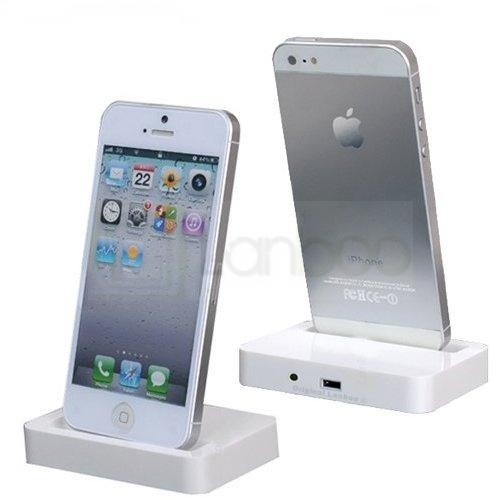 iphone 5 audio dockingstation tischlader ladestation 3 5mm. Black Bedroom Furniture Sets. Home Design Ideas