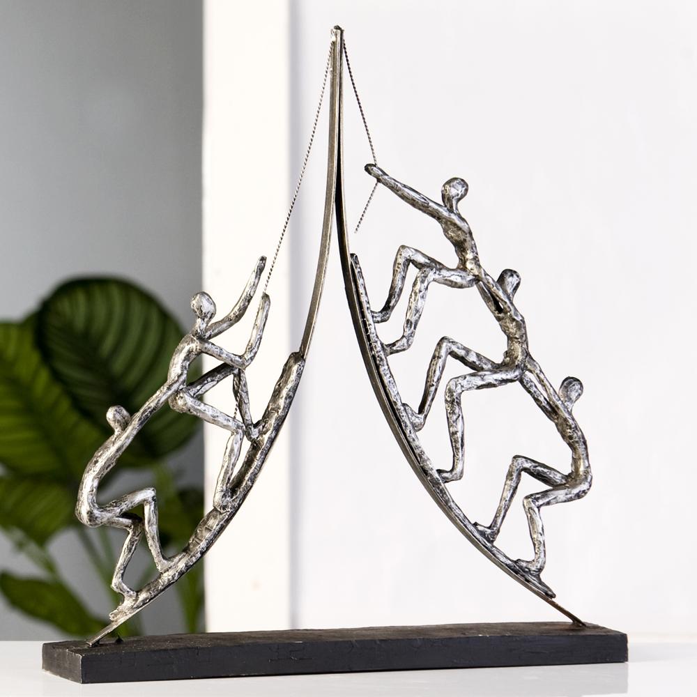 Escultura climbing plata antigua decoraci n moderna figura for Casablanca design bilder
