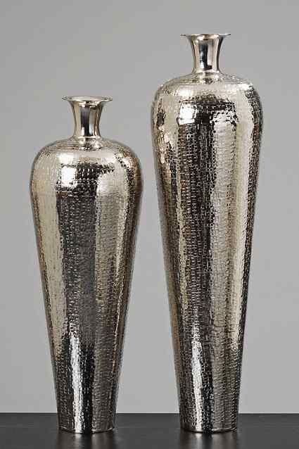 vase carrol aluminium silver flower vase floor vases. Black Bedroom Furniture Sets. Home Design Ideas