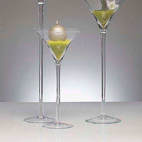 martiniglas xxl vase 50 cm glas klar 30 cm moderne dekovase bodenvase deko neu ebay. Black Bedroom Furniture Sets. Home Design Ideas