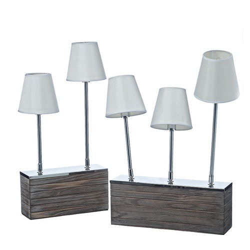tischleuchte woody modern ausgefallen holz lampe originell licht design exclusiv ebay. Black Bedroom Furniture Sets. Home Design Ideas