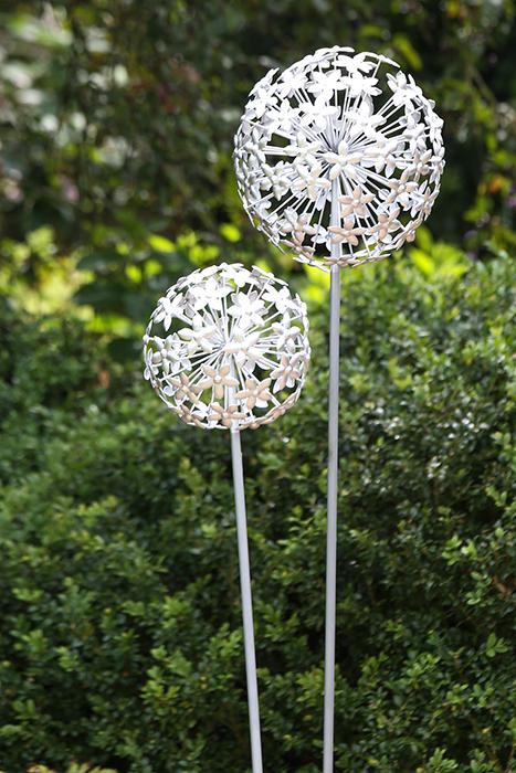 Gartenstecker pusteblume silber metall dekoration for Pusteblume dekoration