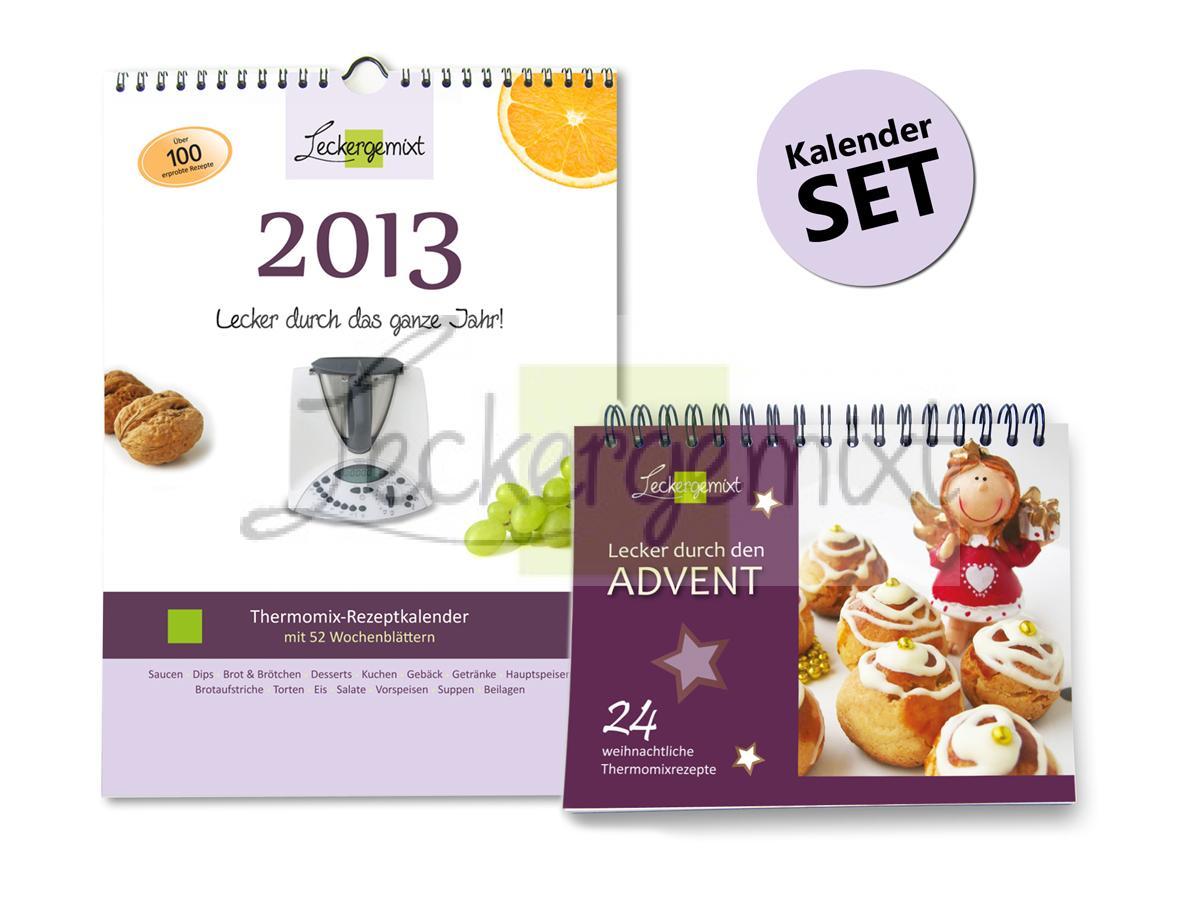 Set wand und tischkalender mit rezepten f thermomix for Wand und deckenleuchten set
