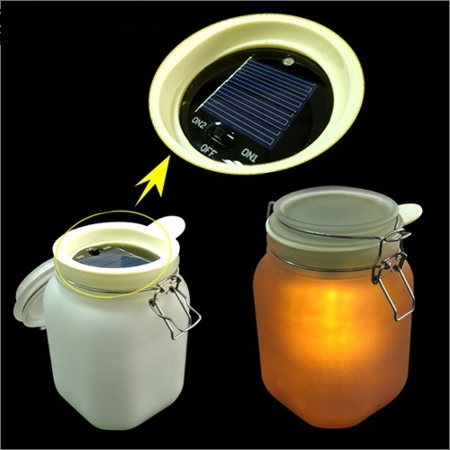 led solarleuchte solar lampe balkonlicht gartenlicht aus glas deko leuchte ebay. Black Bedroom Furniture Sets. Home Design Ideas