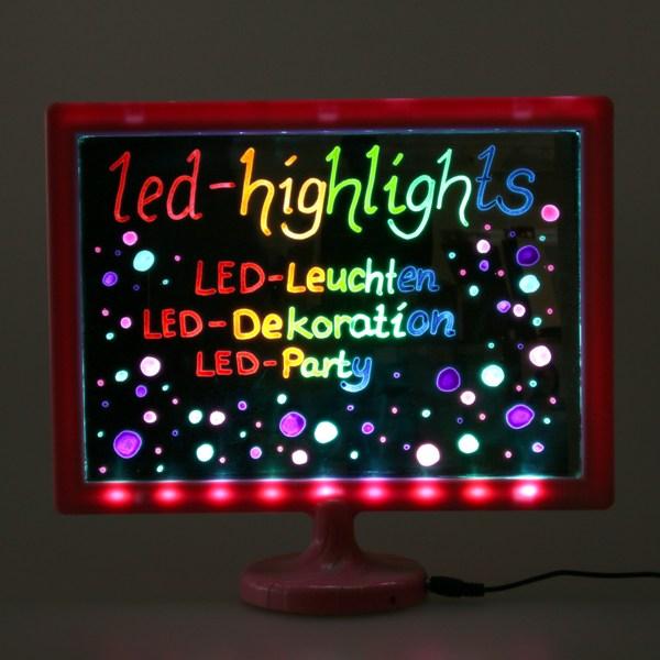 led kindertafel schreibtafel f r kinder 32 x 28 cm mit pinkem rahmen ebay. Black Bedroom Furniture Sets. Home Design Ideas
