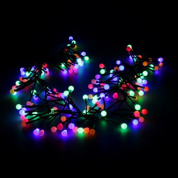 led lichterkette lichterb schel 6 5 m mit 160 kugeln bunt. Black Bedroom Furniture Sets. Home Design Ideas
