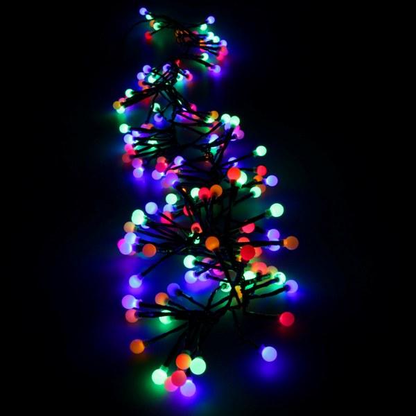 led lichterkette lichterb schel 6 5 m mit 160 kugeln bunt party lichterkette ebay. Black Bedroom Furniture Sets. Home Design Ideas