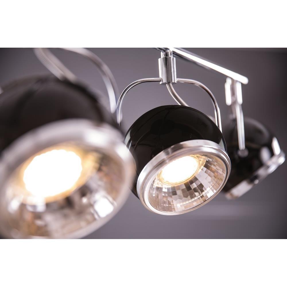 retro strahler 4 flammig schwarz heitronic deckenleuchte. Black Bedroom Furniture Sets. Home Design Ideas