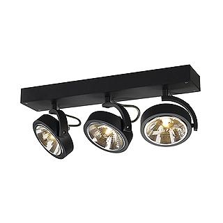 kalu 3 schwarz wand und deckenleuchte von slv 147270 spot strahler deckenlampe ebay. Black Bedroom Furniture Sets. Home Design Ideas