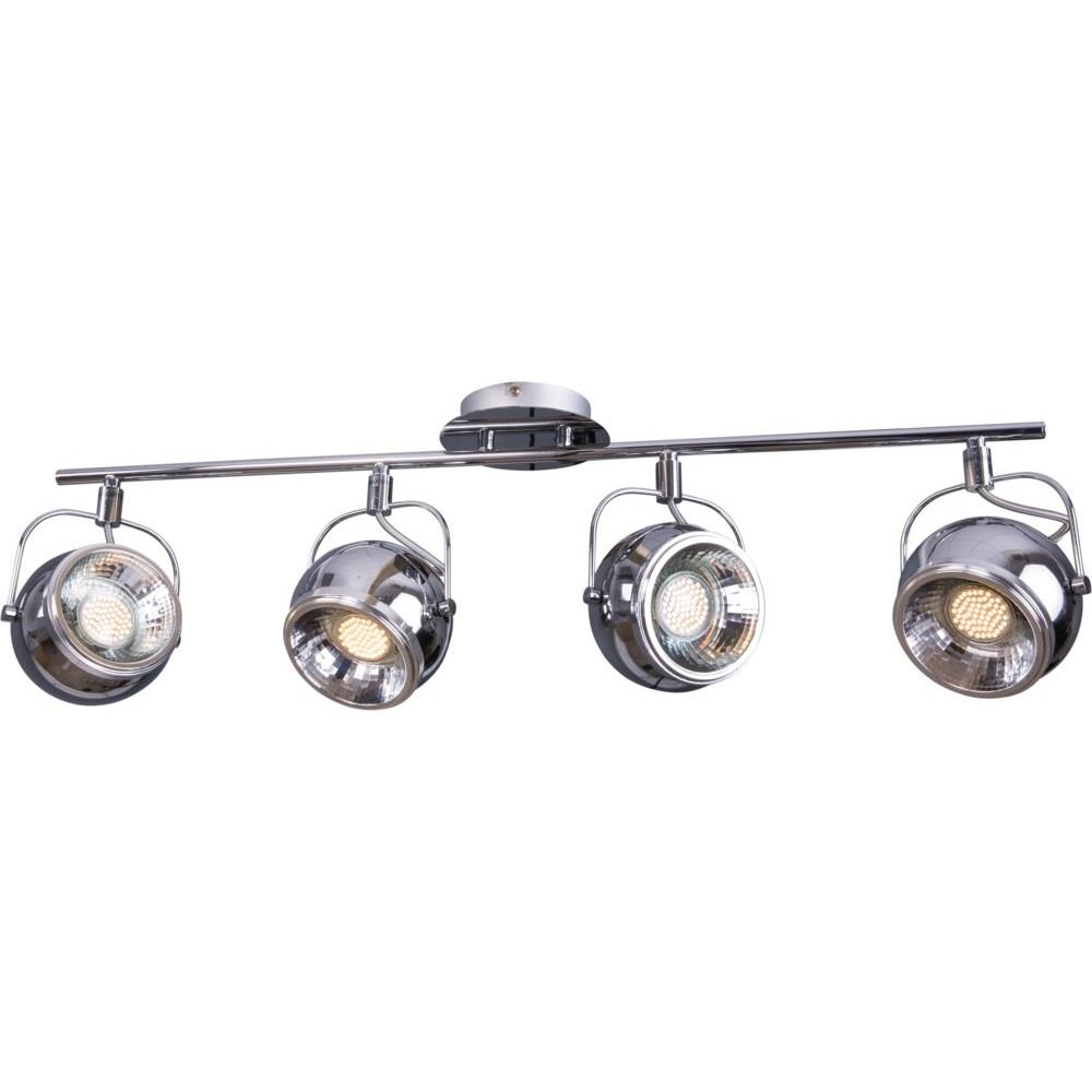 retro strahler 4 flammig chrom deckenstrahler metall heitronic gu10 deckenlampe ebay