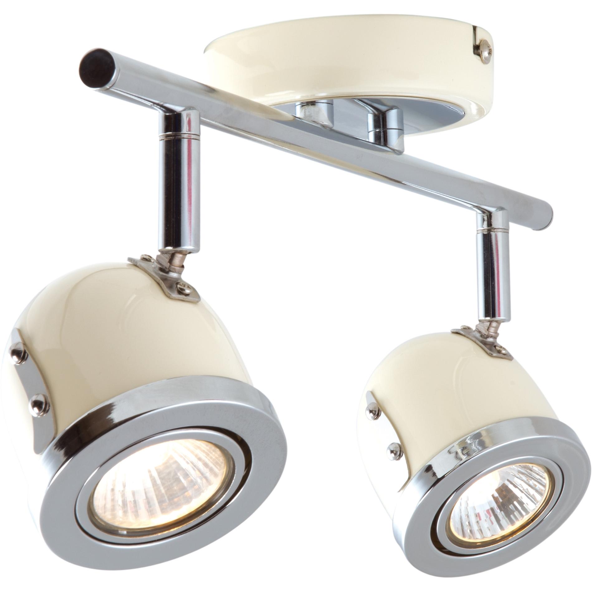 deckenstrahler bel air 2 flammig vanille spot heitronic retro chrom deckenlampe ebay. Black Bedroom Furniture Sets. Home Design Ideas
