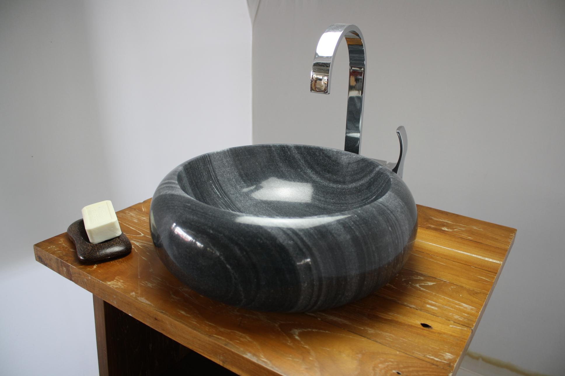 waschbecken hand aufsatz waschschale marmor natur stein waschtisch bad neu dn20. Black Bedroom Furniture Sets. Home Design Ideas