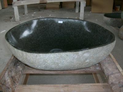 46x40 naturstein flussstein findling waschbecken. Black Bedroom Furniture Sets. Home Design Ideas