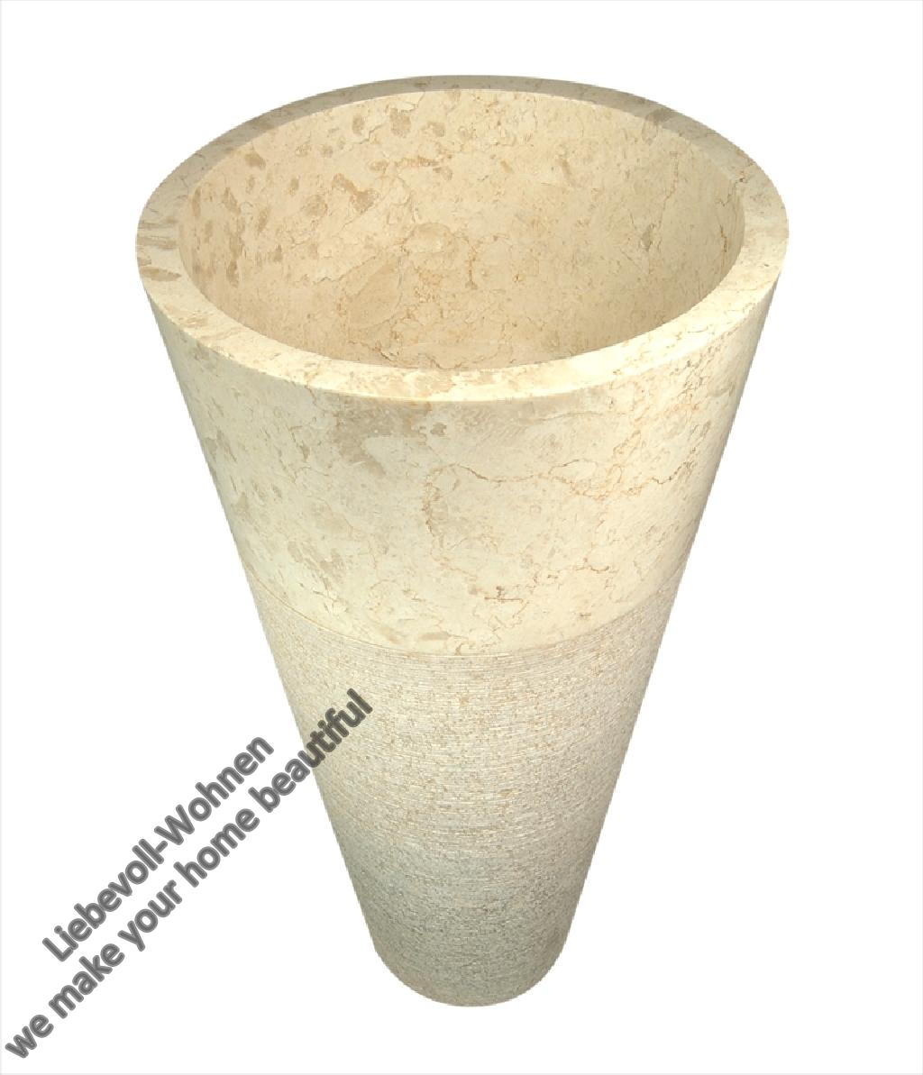 standwaschbecken handwaschbecken waschbecken waschtisch marmor naturstein s ule ebay. Black Bedroom Furniture Sets. Home Design Ideas