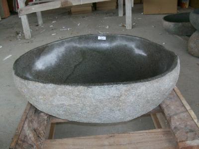 48x42 naturstein flussstein findling waschbecken waschtisch aufsatzwaschbecken ebay. Black Bedroom Furniture Sets. Home Design Ideas