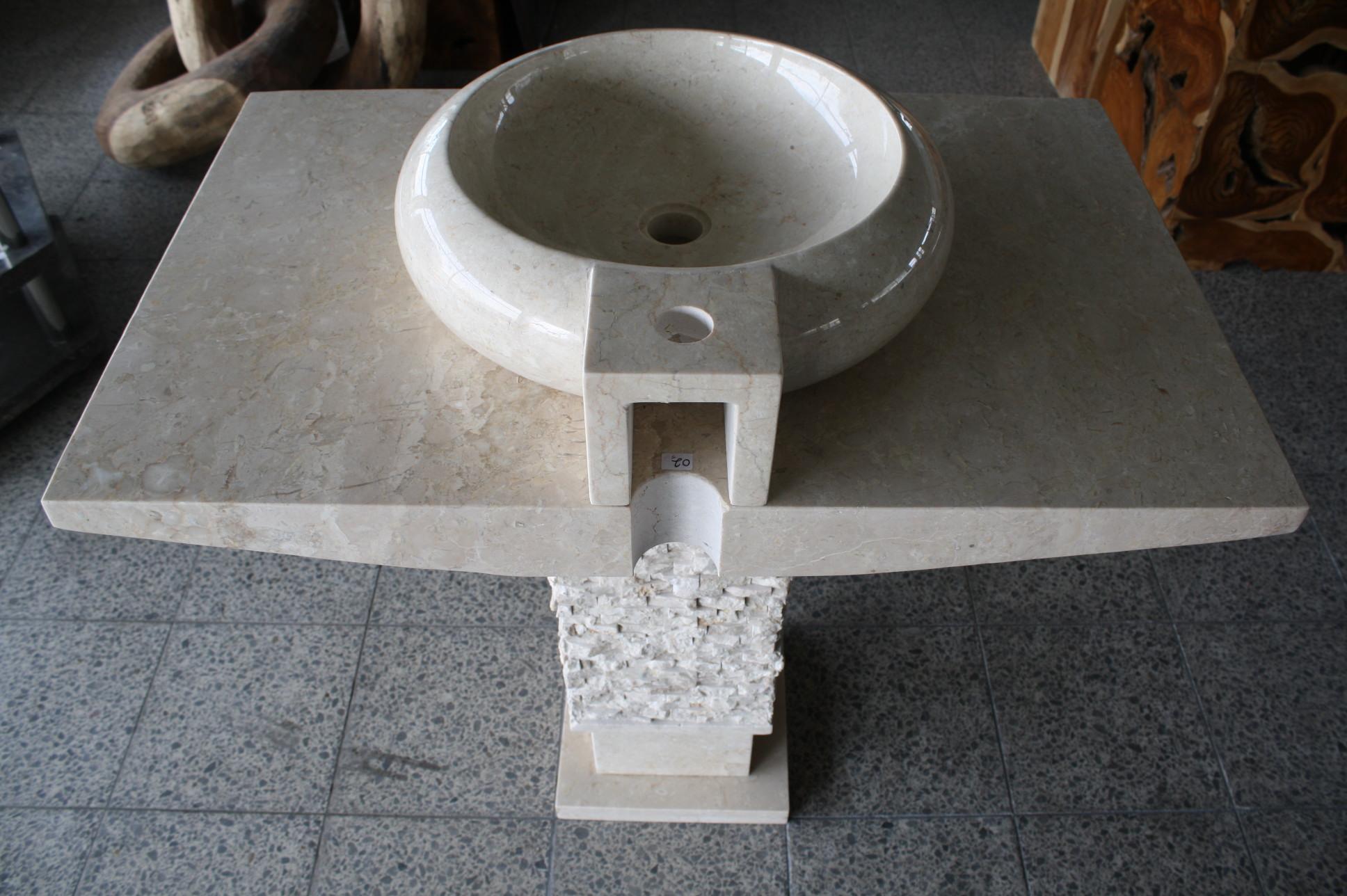 waschbecken waschtisch standwaschbecken handwaschbecken stein marmor restposten ebay. Black Bedroom Furniture Sets. Home Design Ideas