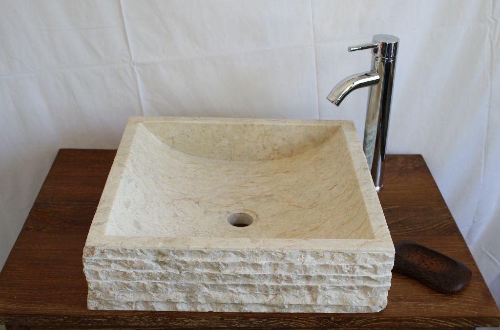 Aufsatzwaschbecken 45x45 waschbecken naturstein marmor for Aufsatzwaschbecken naturstein