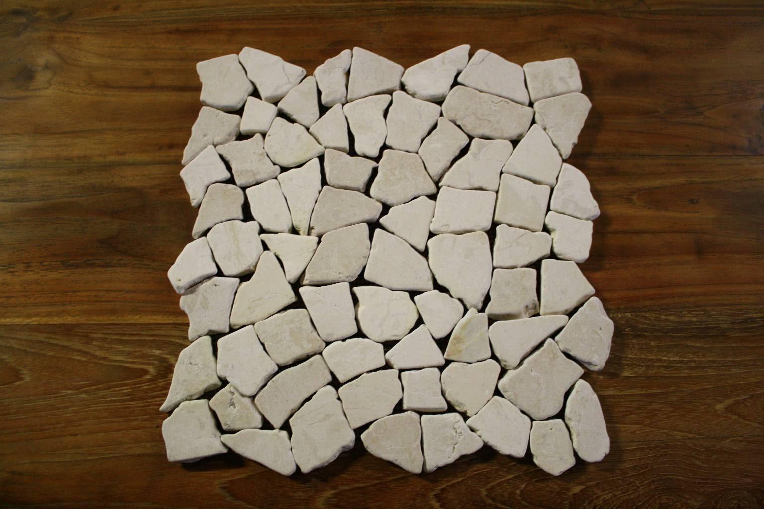 1 matte fliese bruch mosaik marmor naturstein stein wand boden restposten neu ebay. Black Bedroom Furniture Sets. Home Design Ideas