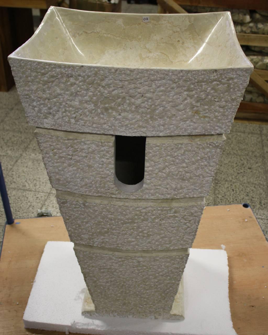 standwaschbecken hand waschbecken waschtisch naturstein marmor stein restposten ebay. Black Bedroom Furniture Sets. Home Design Ideas