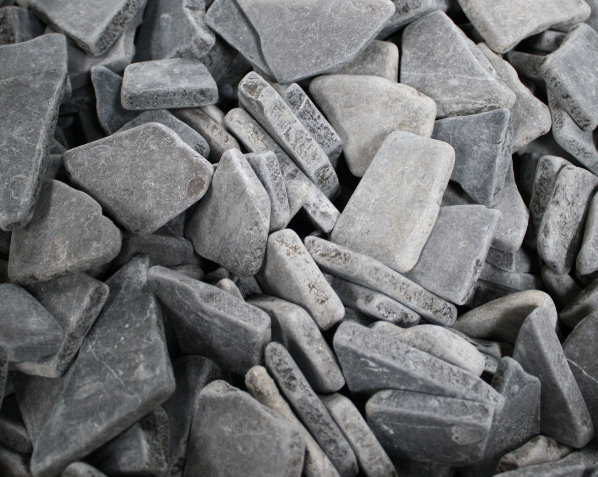 1m bruchmosaik lose grau mosaik fliesen wand boden marmor bruch naturstein ebay - Fliesen losen ohne beschadigung ...