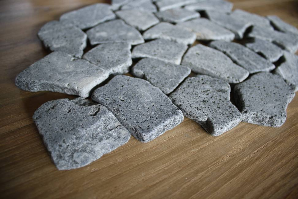 Bruchmosaik lava basalt naturstein stein antik marmor fliesenbruch bruchfliesen ebay - Fliesen losen ohne beschadigung ...