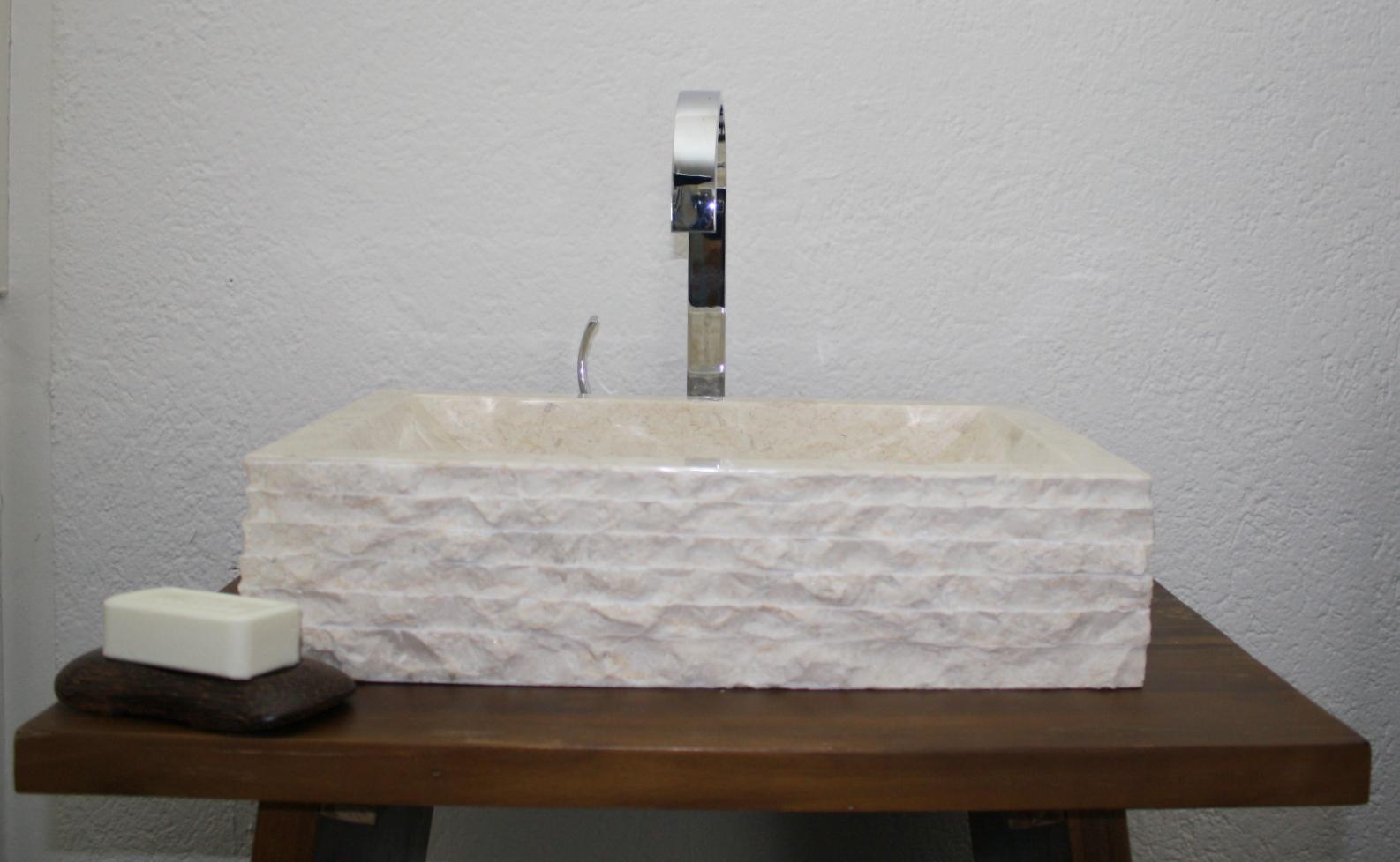 waschbecken 50x33 aufsatz stein hand naturstein marmor. Black Bedroom Furniture Sets. Home Design Ideas