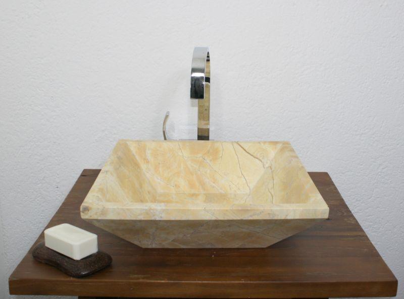 Waschbecken aufsatz hand marmor stein naturstein for Marmor couchtisch neu