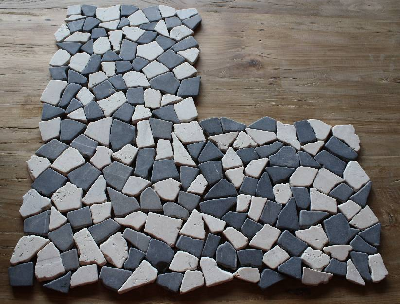 1 matte fliese bruch mosaik marmor naturstein stein wand boden ausverkauf neu ebay. Black Bedroom Furniture Sets. Home Design Ideas