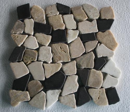 Naturstein Mosaik In Der Dusche : Bruch-Mosaik-Marmor-Naturstein-Stein-Wand-Boden-Restposten-Neu-Dusche