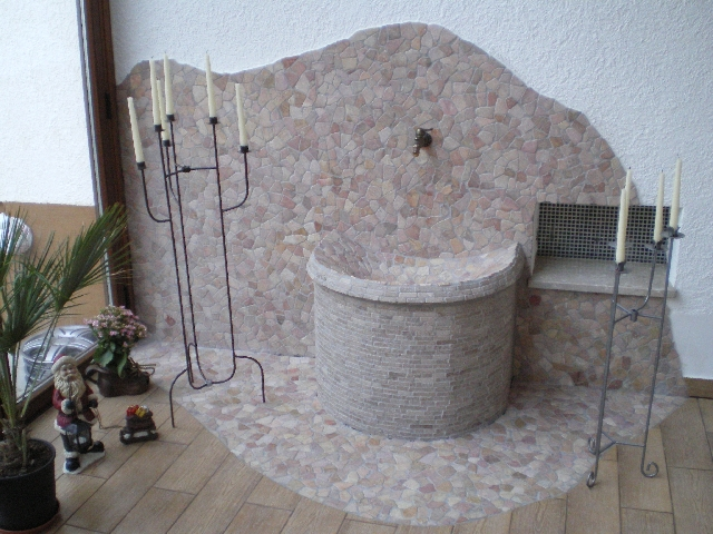 1m bruch mosaik lose rot fliesen wand boden marmor for Rote fliesen bad