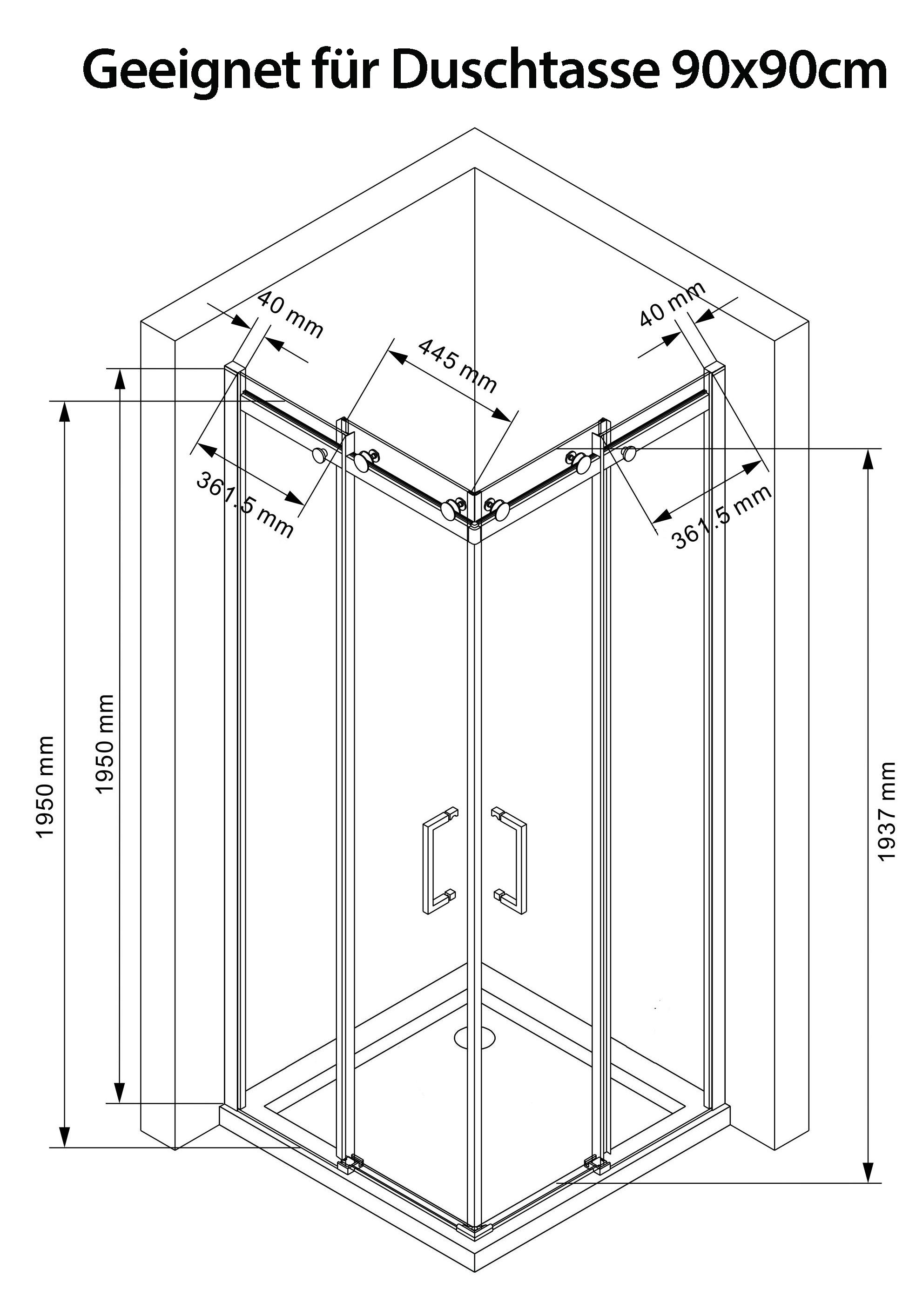 artemis duschkabine dusche duschwand schiebesystem 8mm. Black Bedroom Furniture Sets. Home Design Ideas
