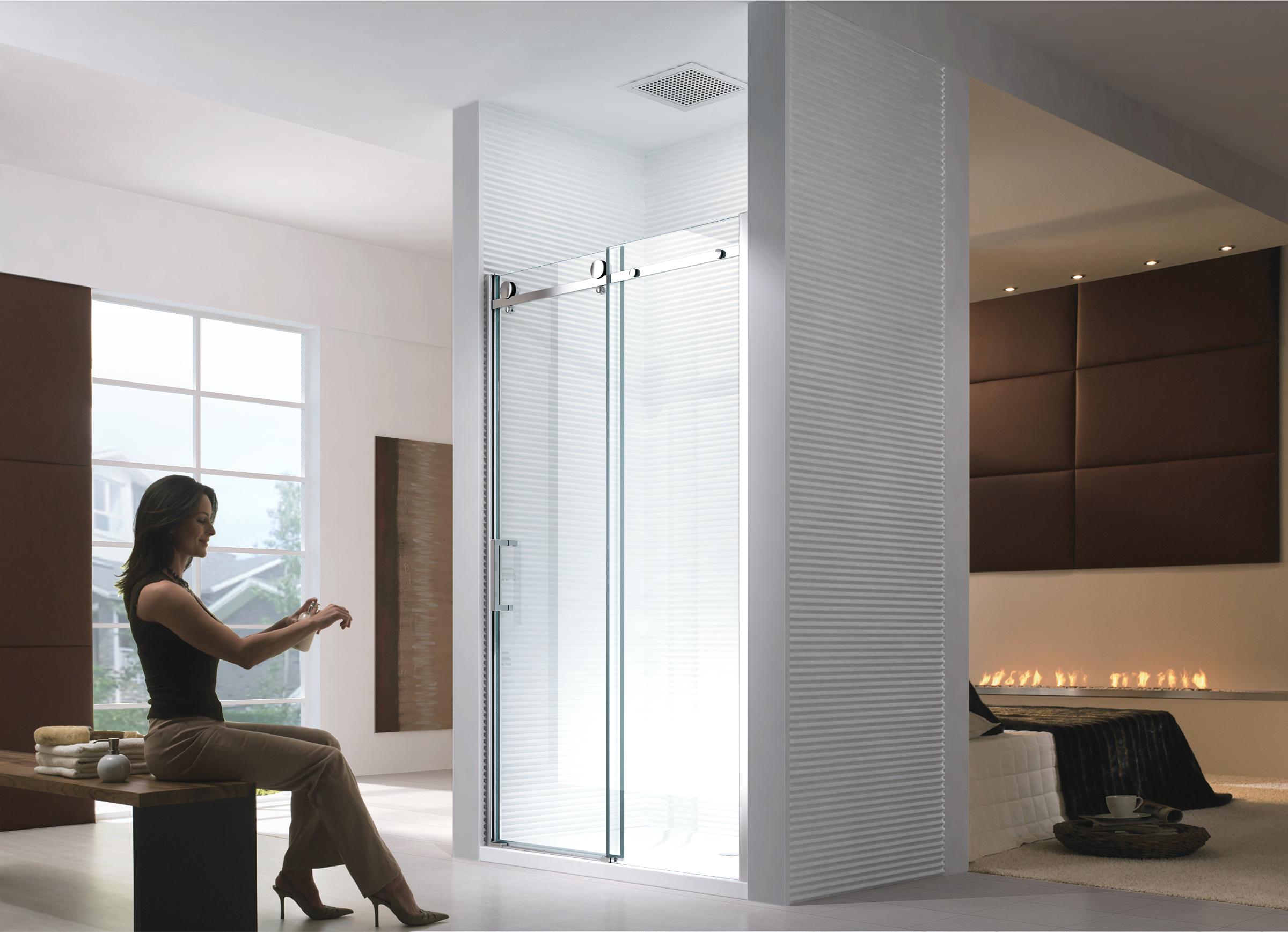 porte de niche cabine de douche sans bac de douche syst mes coulissants ebay. Black Bedroom Furniture Sets. Home Design Ideas