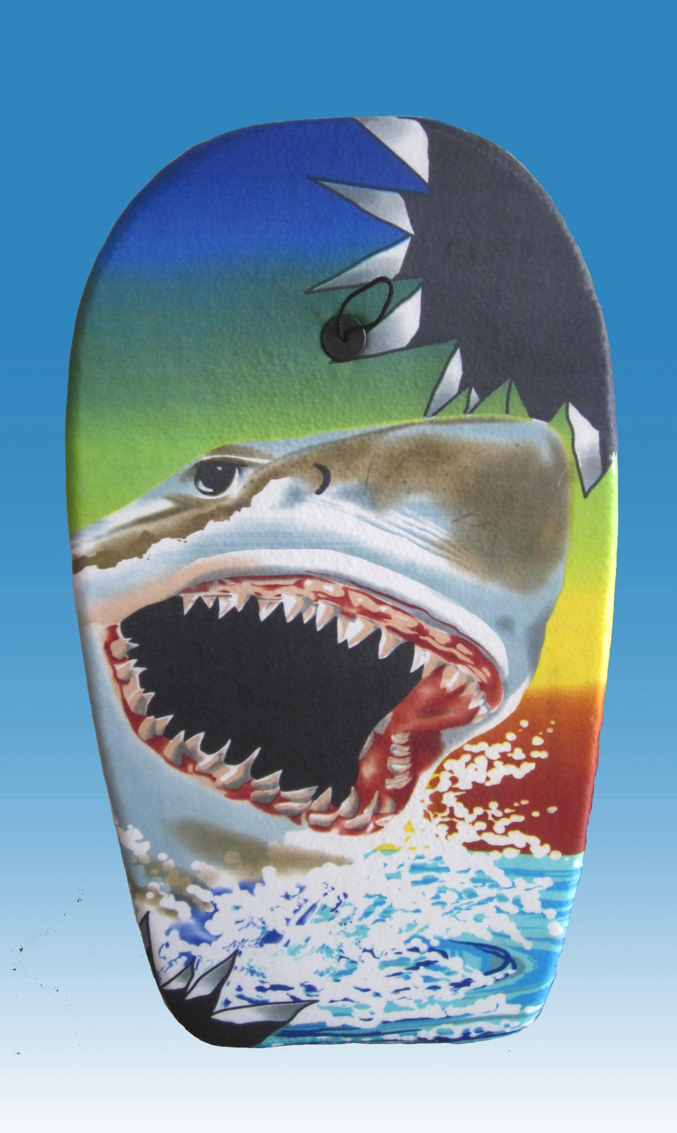 Bodyboard Shark ca. 94 cm Schwimmbrett Schwimmboard Sommer Pool