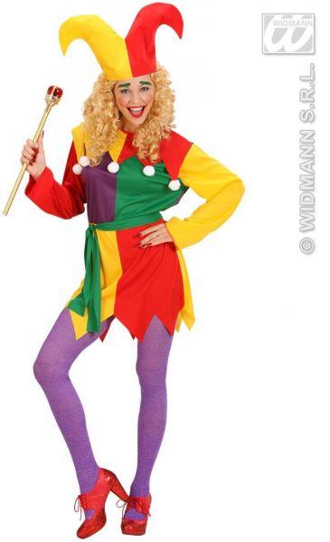 harlekin kost m damen harlekinkappe fasching karneval kleid clown clownfrau ebay. Black Bedroom Furniture Sets. Home Design Ideas