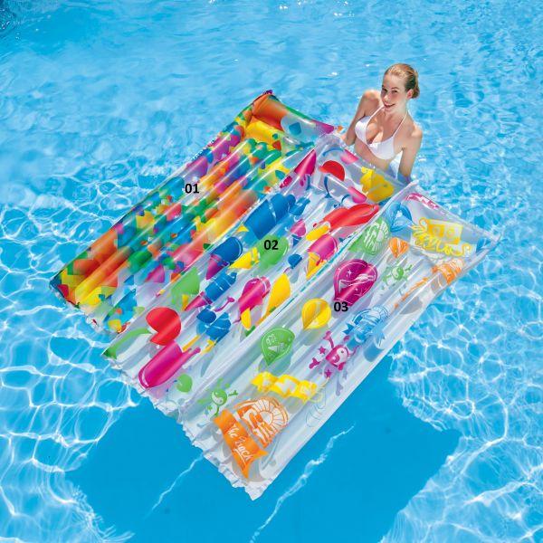 luftmatratze transparent matratze pool wasserliege schwimmliege wasser strand ebay. Black Bedroom Furniture Sets. Home Design Ideas