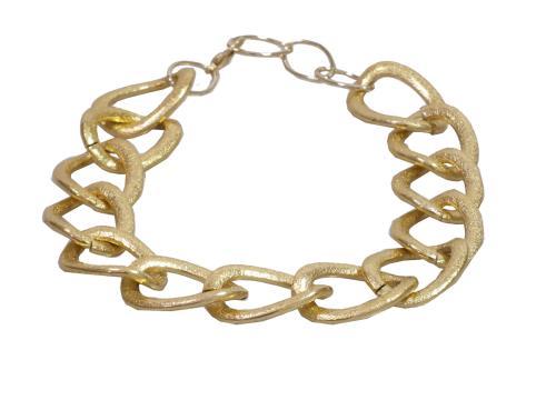 Modeschmuck kette gold  Halskette große Glieder goldfarben Fashion Modeschmuck Kette | eBay