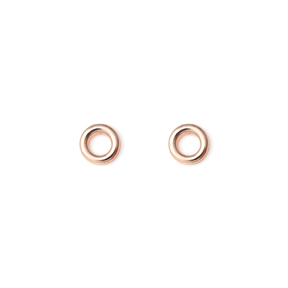 modeschmuck ohrringe ohrstecker kleiner kreis circle rund offen farbe rosegold ebay. Black Bedroom Furniture Sets. Home Design Ideas