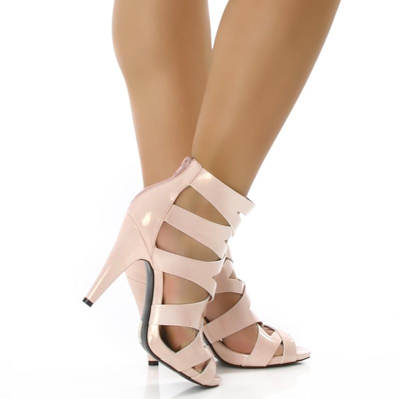 details about sexy lack sandalett en high heels rosa 96b 2. Black Bedroom Furniture Sets. Home Design Ideas