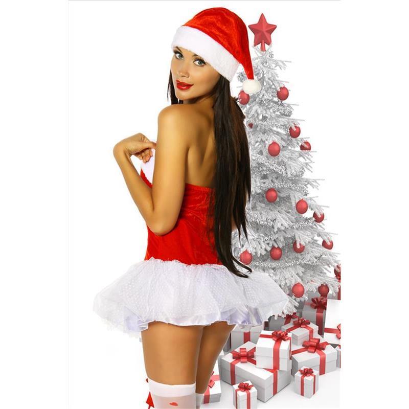 sexy weihnachtsfrau kost m weihnachten christmas gogo rot. Black Bedroom Furniture Sets. Home Design Ideas