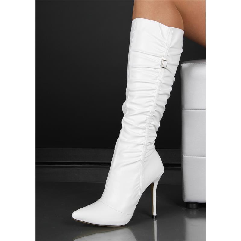 sexy damen stiefel schuhe boots high heel leder imitat weiss hp193 ebay. Black Bedroom Furniture Sets. Home Design Ideas
