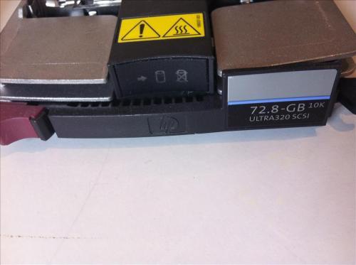 HP-72-8-GB-10K-U320-SCSI-8-9-cm-3-5Zoll-Hot-Swap-Festplatte-mit-Rahmen