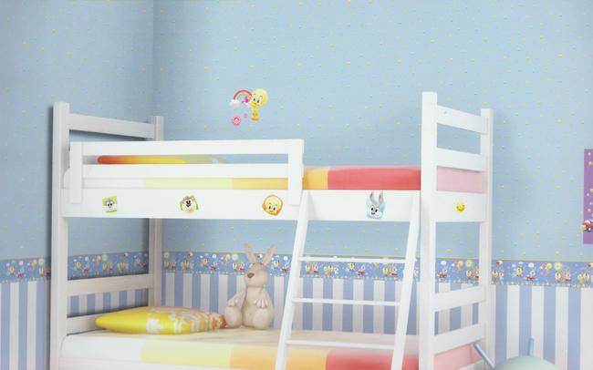wonderland warner bros tapeten bord re 318448 gelb selbstklebend euro m ebay. Black Bedroom Furniture Sets. Home Design Ideas