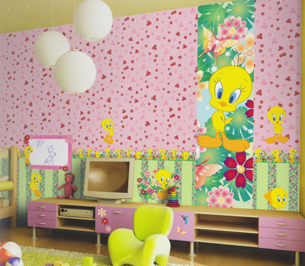 wonderland tapete kinderzimmer tapeten 318011 blumen gr n. Black Bedroom Furniture Sets. Home Design Ideas