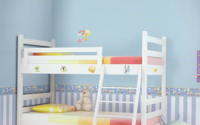 tapeten blau kinderzimmer. Black Bedroom Furniture Sets. Home Design Ideas